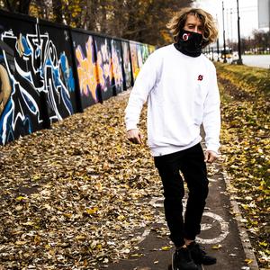 Classic man's sweatshirt white V